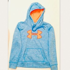 Under Armour Pullover Hoodie Sz M Blue